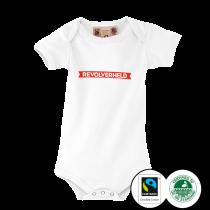 REVOLVERHELD 'Banderole' Babybody weiss