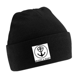 ANCHORS & HEARTS 'World Logo' Beanie black