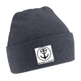 ANCHORS & HEARTS 'World Logo' Beanie grey