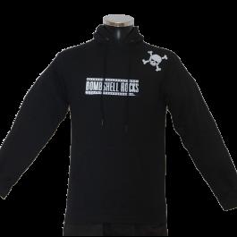 BOMBSHELL ROCKS 'Logo Shoulder Skull' Kapu schwarz