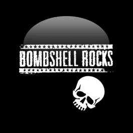 BOMBSHELL ROCKS 'Logo Skull' Button schwarz