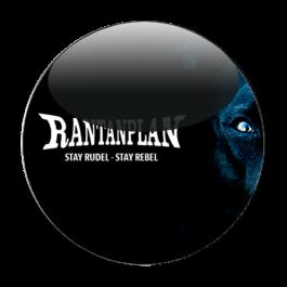 RANTANPLAN 'Stay Rudel - Stay Rebel schwarz' Button