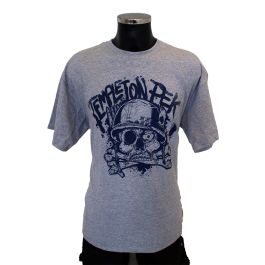 TEMPLETON PEK 'Skull' T-Shirt grey