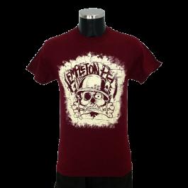 TEMPLETON PEK 'Skull' T-Shirt red