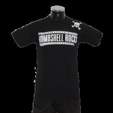 BOMBSHELL ROCKS 'Logo Shoulder Skull' T-Shirt schwarz