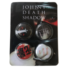 JOHNNY DEATHSHADOW 'Bleed With Me' Button-Set'