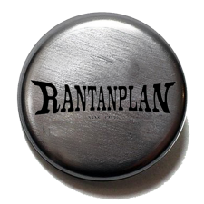 RANTANPLAN 'Logo' Button metallic