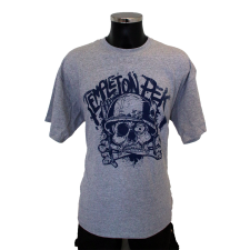 TEMPLETON PEK 'Skull' T-Shirt grey