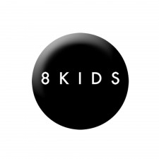 8KIDS 'Logo' Button schwarz
