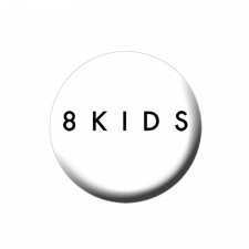 8KIDS 'Logo' Button weiss