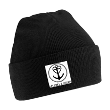 ANCHORS & HEARTS 'World Logo' Beanie black