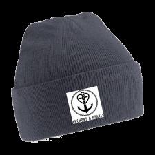 ANCHORS & HEARTS 'World Logo' Beanie grey