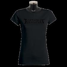 RANTANPLAN 'Black on black' Girlie-Shirt - handmade!