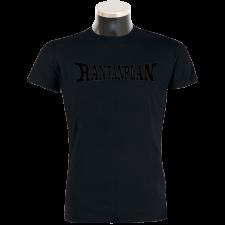 RANTANPLAN 'Black on black' T-Shirt - handmade!