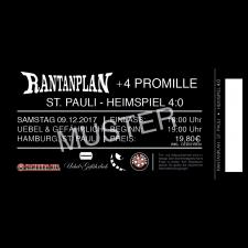 RANTANPLAN '09.12.2017' + 4 Promille + 8KIDS - Hamburg Ticket