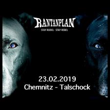 RANTANPLAN  - STAY RUDEL-STAY REBEL TOUR 23.02.2019' Chemnitz Ticket