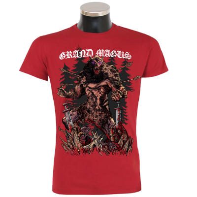 GRAND MAGUS 'Werewolf' T-Shirt Red